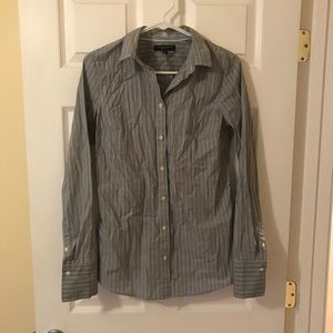 Banana Republic Blue Striped Blouse (Tall size)
